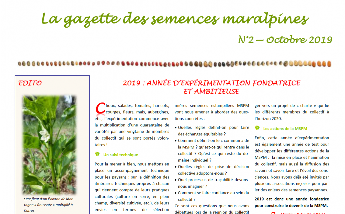 La gazette d'Octobre 2019
