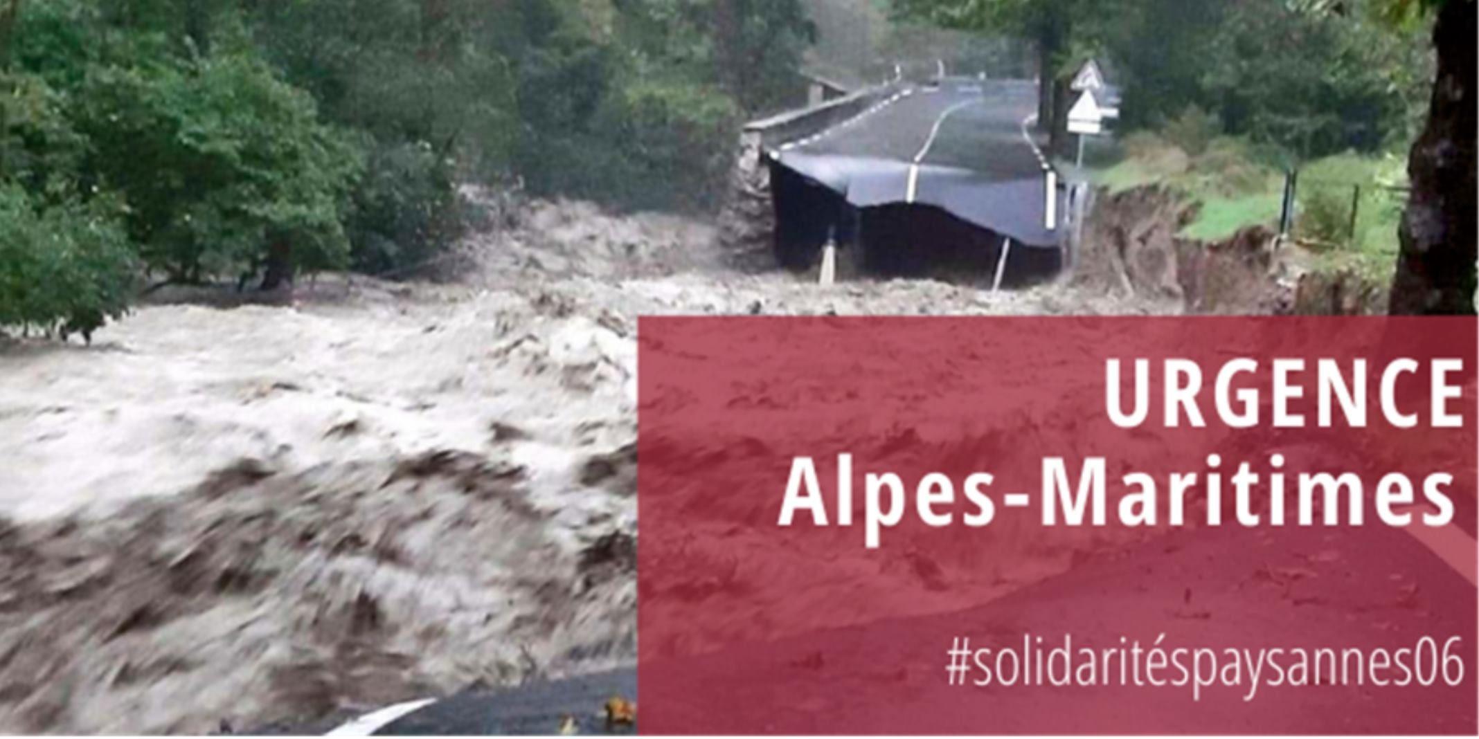 Urgence Alpes-Maritimes – Soutien aux paysans des vallées sinistrées